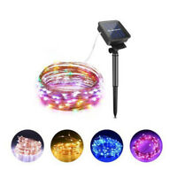 100LEDs Led Solar Light Strip Lamp 12m Outdoor Waterproof Holiday Decor String