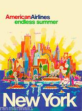 New York Endless Summer United States America Travel Advertisement Art Poster