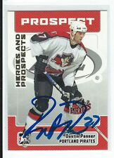 Dustin Penner Signed 2006/07 Heroes and Prospects Card #57