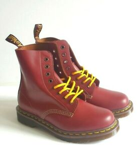 Dr Martens Vintage 1460 Made In England Oxblood Quilon Leather Boots
