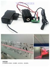 12V 100mw Focusable 650nm Red Line Beam Laser Diode Module Fan Long-Time Work