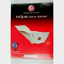 PACK OF 5 GENUINE HOOVER H34 AQUA S5135 VACUUM CLEANER BAGS  09177650
