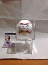 Baseball Yankees Braves Lew Burdette Autographed Baseball JSA Certified Deceased