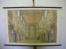 schönes altes Schulwandbild Wandkarte Romaischer Baustil 2 109x75 vintage 1959