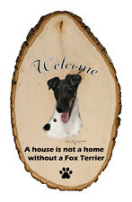 Outdoor Welcome Sign (Tb) - Tri Smooth Fox Terrier 51212