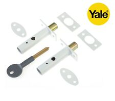 Yale Locks P2PM444WE Door Security Bolts - White Finish PACK of 2 FREE DELIVERY