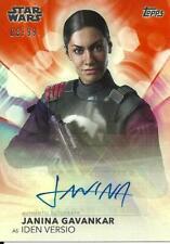 Women of Star Wars 08/99 Autograph Card Janina Gavankar as Iden Vesio
