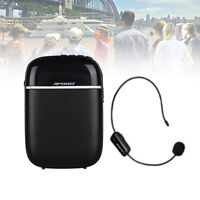 Waistband 10W Portable Voice Amplifier Booster +Wireless Mic For Teaching Guide