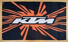 New listing Ktm Racing 3x5 Ft Flag Banner Motorcross Off Road