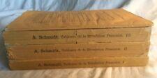 A Schmidt Tableaux de la Revolution Française Tome / Vol 1,2,3 (+index) PB 1870