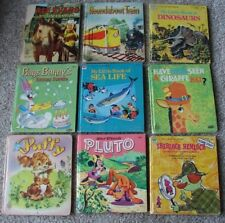 Lot of 9 Nine Whitman Tell-A-Tale HBs picture books Color illustrations Pictures