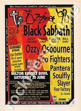Black Sabbath Ozzy Osbourne Foo Fighters Pantera Slayer Fear Factory show Advert