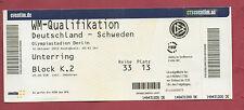 Orig.Ticket   WM Qualifikation  16.10.2012  DEUTSCHLAND - SCHWEDEN  !!  SELTEN