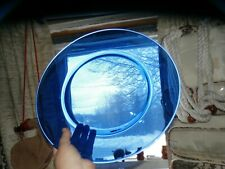 "Vintage Cobalt Blue Glass Large Oval Serving Plate Platter 13"" Perfect Condit"
