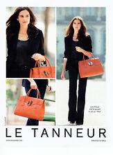 publicité Advertising 117  2012   le Tanneur sac Nina avec Julie Erhard