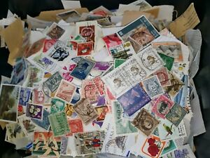100g Stamps Unsorted Mix Collection Old Foreign World Stamps Bundle Rare Error