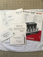 McIntosh MC225 Stereo Power Amplifier Original Owner's Manual
