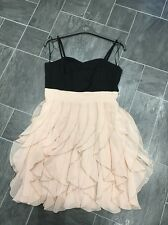 H&M BLACK SIZE EUR 38 CORSET STYLE DRESS WITH PINK RUFFLED SKIRT