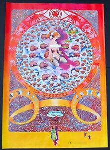 1968 Hapshash The Colored Coat Granny Takes A Trip Brain Drain Family Dog Poster