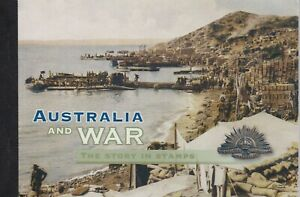 2005 PRESTIGE STAMP BOOKLET - AUSTRALIA AND WAR - THE STORY IN STAMPS