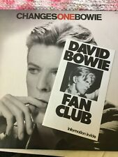 DAVID BOWIE VINYL changesone LP RARE DEMO Promo COPY wDouble Labels FAN BROCHURE