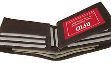 RFID Blocking Safe Men Bifold Card Id 12+ Credit Leather CENTER FLAP Wallet