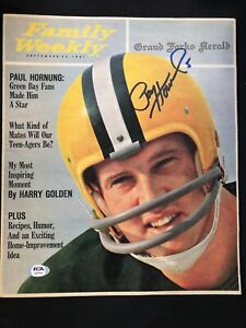 Paul Hornung Green Bay Packers HOF 1986 Signed Family Weekly Sept 1961 ~ PSA/DNA
