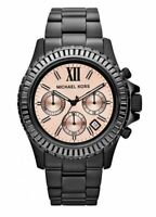 Brand New Michael Kors Everest All Black Blush Tone Dial Glitz MK5872 Watch