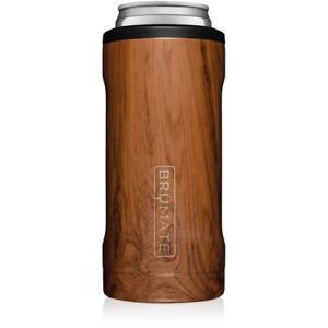 Brumate Hopsulator Slim Can Cooler Tumbler 12 oz Drink Holder Walnut Wood