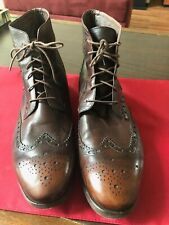 Paul Smith Boots Richelieu Brown Lace Up Leather Size 11 Made in Italy