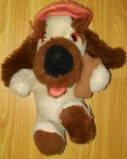 "Rare vintage Mary Meyer cartoon character Dog w hat & bone Brown 11"" Plush"