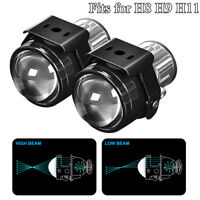 "2.5"" Bi-xenon Fog lights Projector Lens Driving Fog Lamps Car Bike Retrofit Kit"