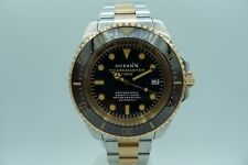 OCEAN X OCEANX SHARKMASTER SMS1051 1000M DIVER DEEP SEA SEA DWELLER 44MM 2 TONE