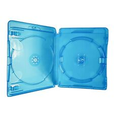 1x Double Standard Blu-Ray Disc Empty Translucent Blue Case With 14mm Spine