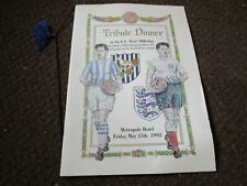 More details for west bromwich albion : tribute dinner / menu ~ metropole hotel - may 15th,1992