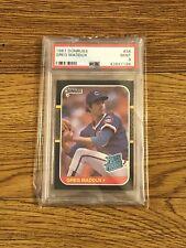 1987 Donruss Greg Maddux Rookie Chicago Cubs Atlanta Braves ***HOF*** PSA 9 MINT