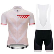 2020 Men's White Cycling Jersey Shorts Sets Short Sleeve Shirt Short Pants Kit