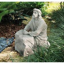 "Jesus In The Garden Of Gethsemane Design Toscano Exclusive 23½"" Garden Statue"