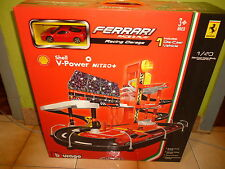 Burago 1/43 Shell V Power Ferrari Race And Play Racing Garage