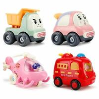 NASHRIO Pull Back Cars Toys for 1 Year Old+ Baby and Toddlers, 4 Pack Kids Early