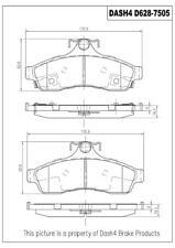 Disc Brake Pad Set-SEMI METALLIC PADS Rear Dash 4 Brake MD628