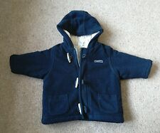 Next blue fleece duffel coat 6-9 months
