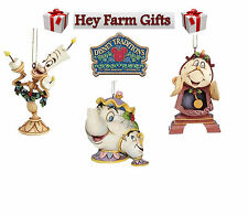 Disney Traditions Beauty & The Beast Set Of 3 Hanging Christmas Tree Decoration