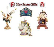 Disney Traditions Mrs Potts & Chip Cogsworth & Lumiere Christmas Tree Decoration