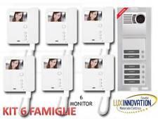KIT VIDEOCITOFONO URMET 6 FAMIGLIE KIT VIDEOCITOFONO 6 MONITOR 6 PULSANTI