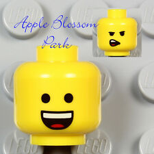 NEW Lego EMMET MINIFIG YELLOW HEAD - Movie Boy/Girl w/Classic Minifigure Smile
