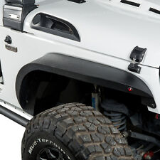 4Pcs Steel Upgraded Flat Style Front+Rear Fender Flares 07-17 Jeep Wrangler JK
