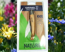 <>COUTEAU DE JARDIN OPINEL N°8<>NATURE<>FRANCE<>LAME INOX<>NEUF SOUS BLISTER<>