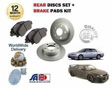 FOR NISSAN SKYLINE R32 R33 2.0 2.5 1989->NEW REAR BRAKE DISCS SET + DISC PAD KIT