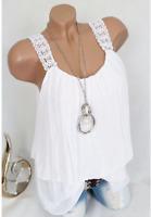 Lagenlook Tunika Shirt Top Blusenshirt Viskose Weiß Spitze 44 46 48 *NEU*